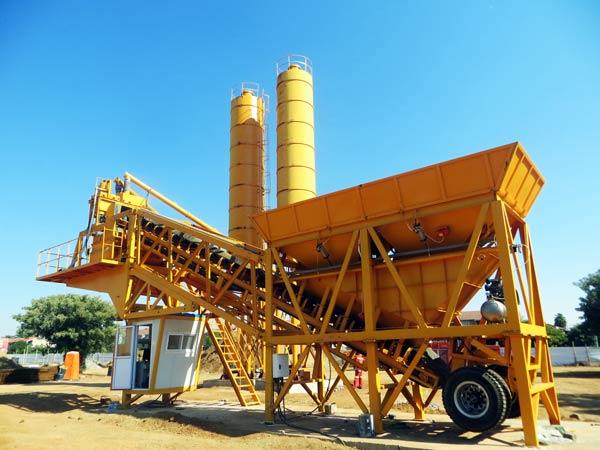 mobile concrete batching plant for sale