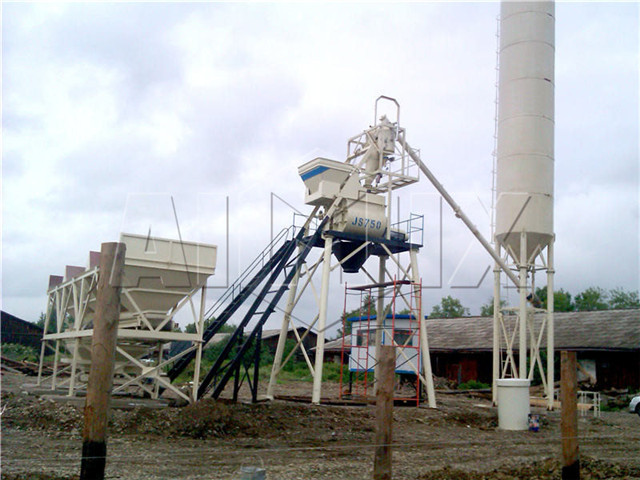 Small Concrete mixing Plant in China